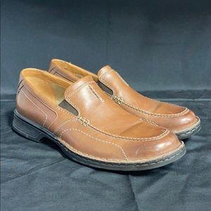 Clarks Men's Hommes Brown Slip On Shoes Size 10.5